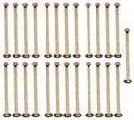 pontiac catalina 1953 Drum Brake Shoe Spring Hold Down Pin H1110K small image